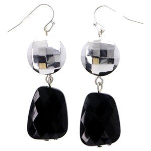 3/$20 Catherines silver and black dangle earrings